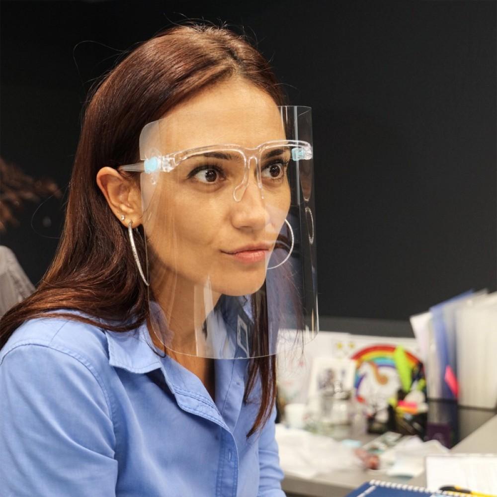 Щит с предпазен визьор и рамка за очила